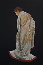 wedding kimono I olieverf op paneel 40 x 60 cm