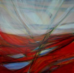 Abstract 107 - 120 x 120 cm - acryl op linnen