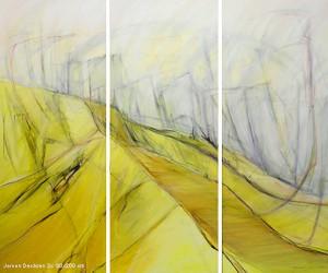 Abstract 35 - 240 x 200 cm - acryl op linnen