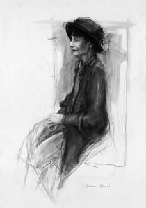 portret 16 - potlood en acryl op papier - 70x100 cmkopie 2