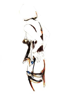 Jeroen Dercksen Ipad-tekening, pose II