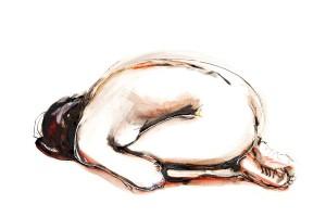 Jeroen Dercksen Ipad-tekening, pose IV